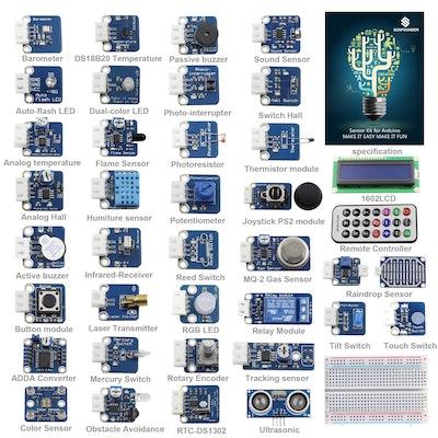 37 SunFounder Modules Sensor Kit V2.0 for Arduino