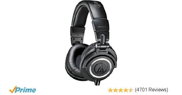 Amazon.com: Audio-Technica ATH-M50x Professional Monitor Headphones, Black: Musi