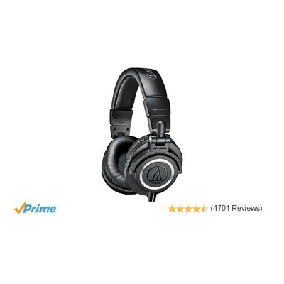 Amazon.com: Audio-Technica ATH-M50x Professional Monitor Headphones, Black: Musi
