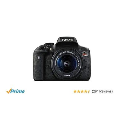 Amazon.com : Canon EOS Rebel T6i Digital SLR with EF-S 18-55mm IS STM Lens - Wi-