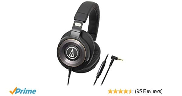 Audio-Technica ATH-WS1100iS Solid Bass Over-Ear Headphones with In-l