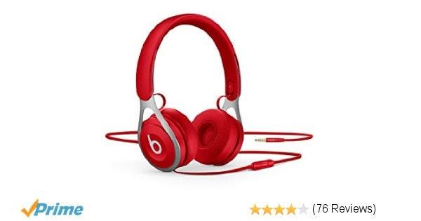 Beats EP On-Ear Headphones - Red: Amazon.co.uk: Electronics