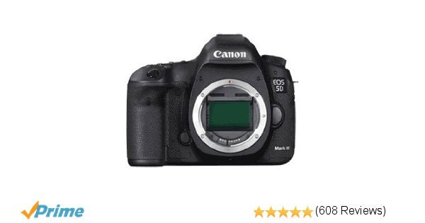 Amazon.com : Canon EOS 5D Mark III 22.3 MP Full Frame CMOS with 1080p Full-HD Vi