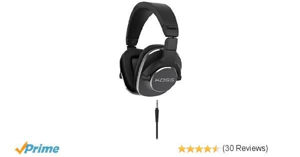 Amazon.com: Koss Pro4S Full Size Studio Headphones, Black with Silver Trim: Home