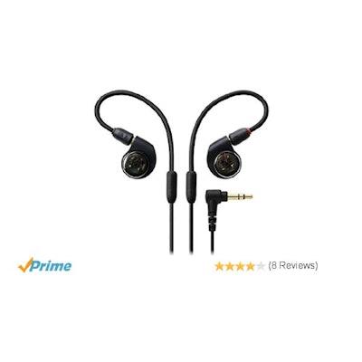 Amazon.com: Audio-Technica ATH-E40 Professional In-Ear Monitor Headphone: Musica