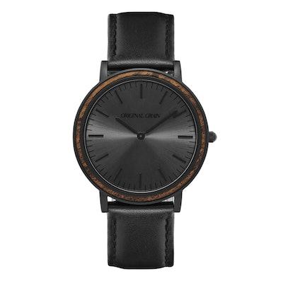Ebony / Matte Black Minimalist – Original Grain Watches