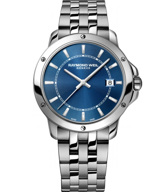 RAYMOND WEIL Genève > Tango 5591-ST-50001 Mens Watches - Date Steel on steel blu