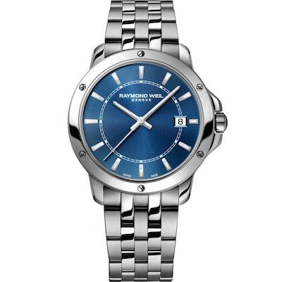 RAYMOND WEIL Genève > Tango 5591-ST-50001 Mens Watches - Date Steel on steel blu