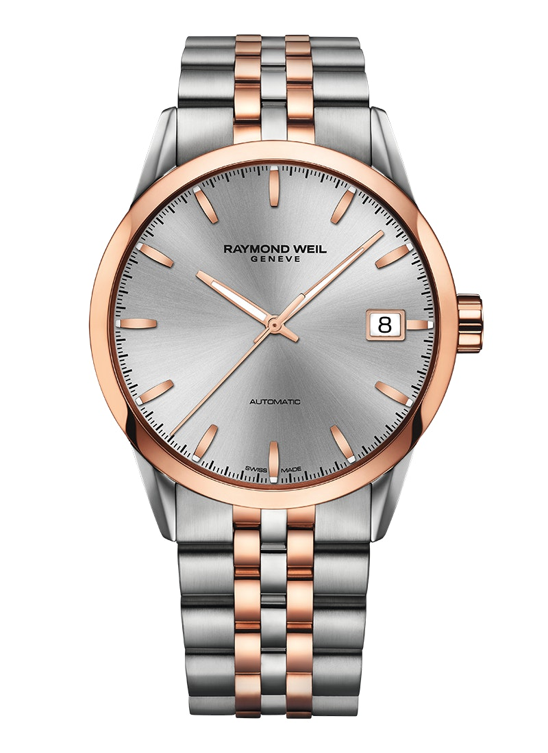 FREELANCER Automatic date Two-tone silver dial