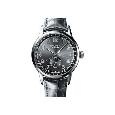 Tiffany CT60® Annual Calendar 40 mm men's watch in 18k white gold. | Tiffany & C