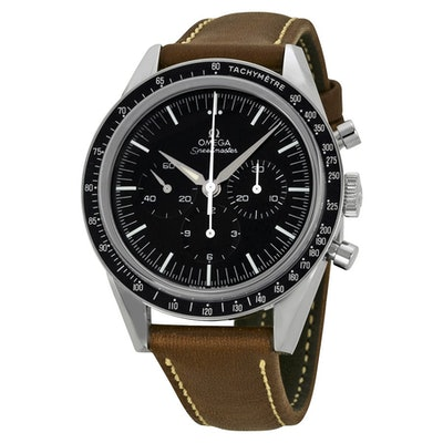 Omega LIMITED 50TH ANNIVERSARY EDITION Speedmaster Moonwatch Black Dial Brown Le