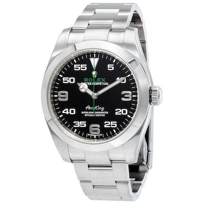 Rolex Air King Black Dial Stainless Steel Men's Watch