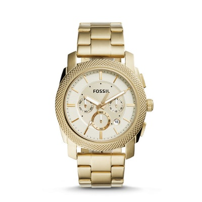 Machine Chronograph Gold-Tone Stainless Steel Watch - Fossil