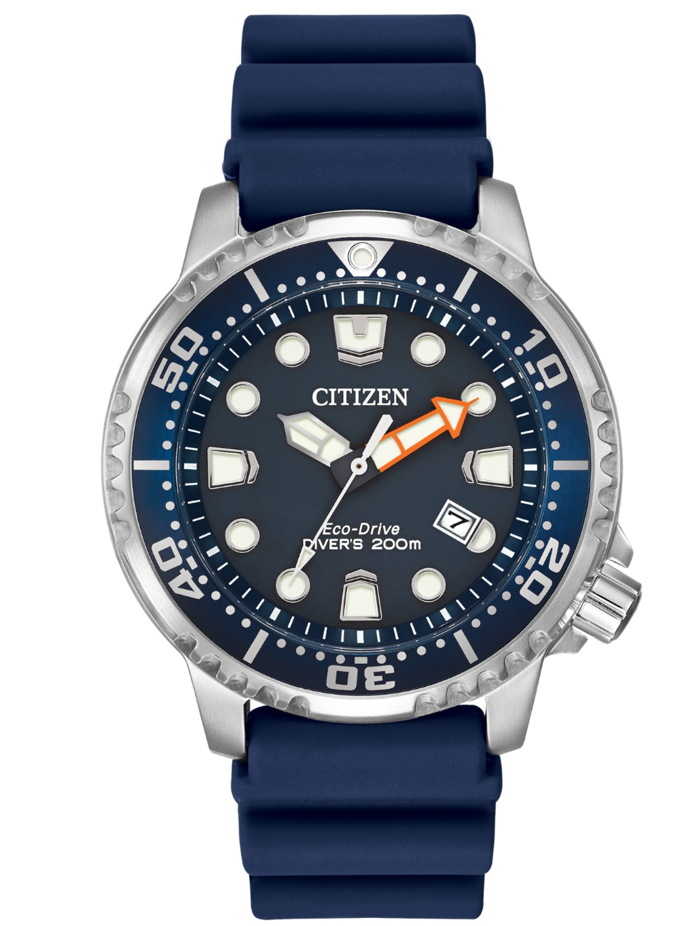 Promaster Diver-Men's Eco-Drive Blue Strap Diver Watch | CitizenSlice 1Arrow poi