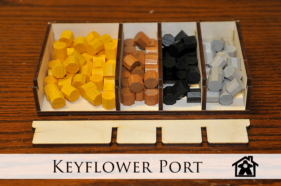 Keyflower Port (Compatible with KEYFLOWER™) - Meeple Realty -Think Inside the Bo