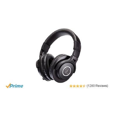 Amazon.com: Audio-Technica ATH-M40x Professional Studio Monitor Headphones: Musi