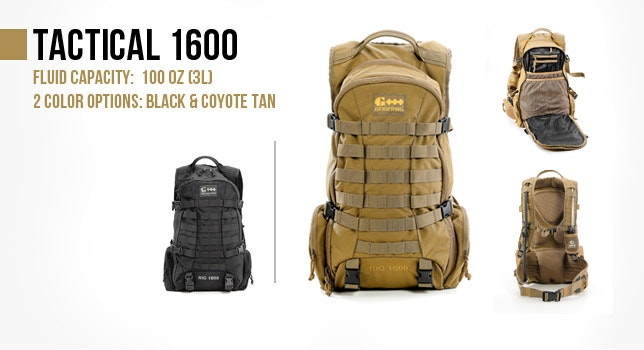 Black or Coyote Tactical Hydration Pack 1600 | Tactical Gear