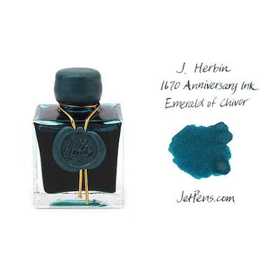 J. Herbin 1670 Anniversary Fountain Pen Ink - 50 ml Bottle - Emerald of Chivor -