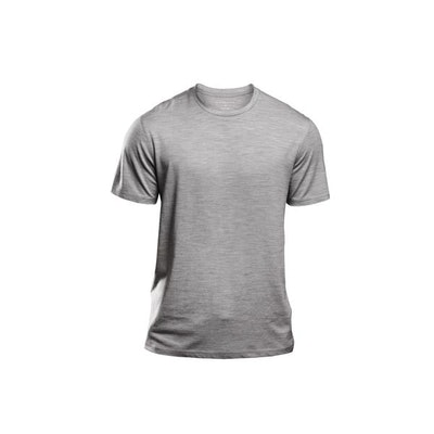 4eb1aa9b4506da Merino Wool T-shirt – Mens Heather Grey Crew Neck | Unbound Merino