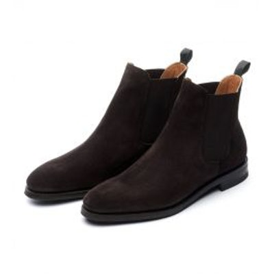 Meermin Mallorca Brown Suede Chelsea Boots