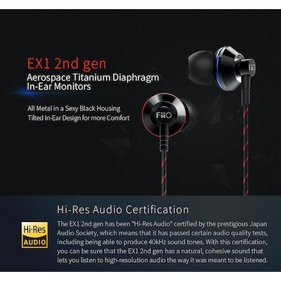 Fiio EX1 2nd Generation In Ear Monitors