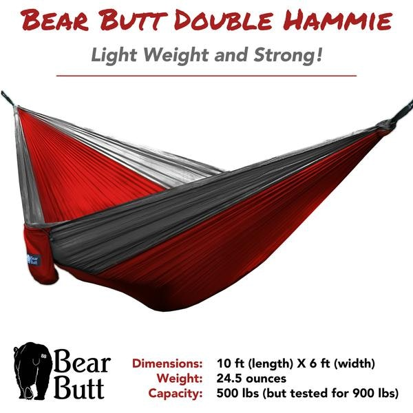 Bear Butt Double Hammock (Red/Gray) | Bear Butt | Shaking the eagle out of the n