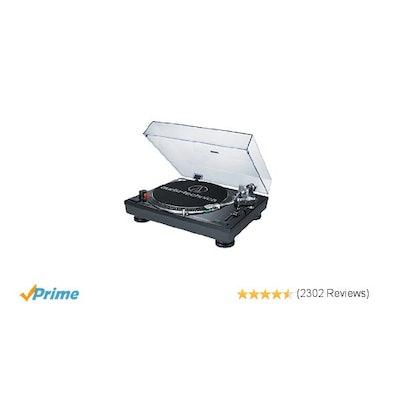 Amazon.com: Audio Technica AT-LP120BK-USB Direct-Drive Professional Turntable (U