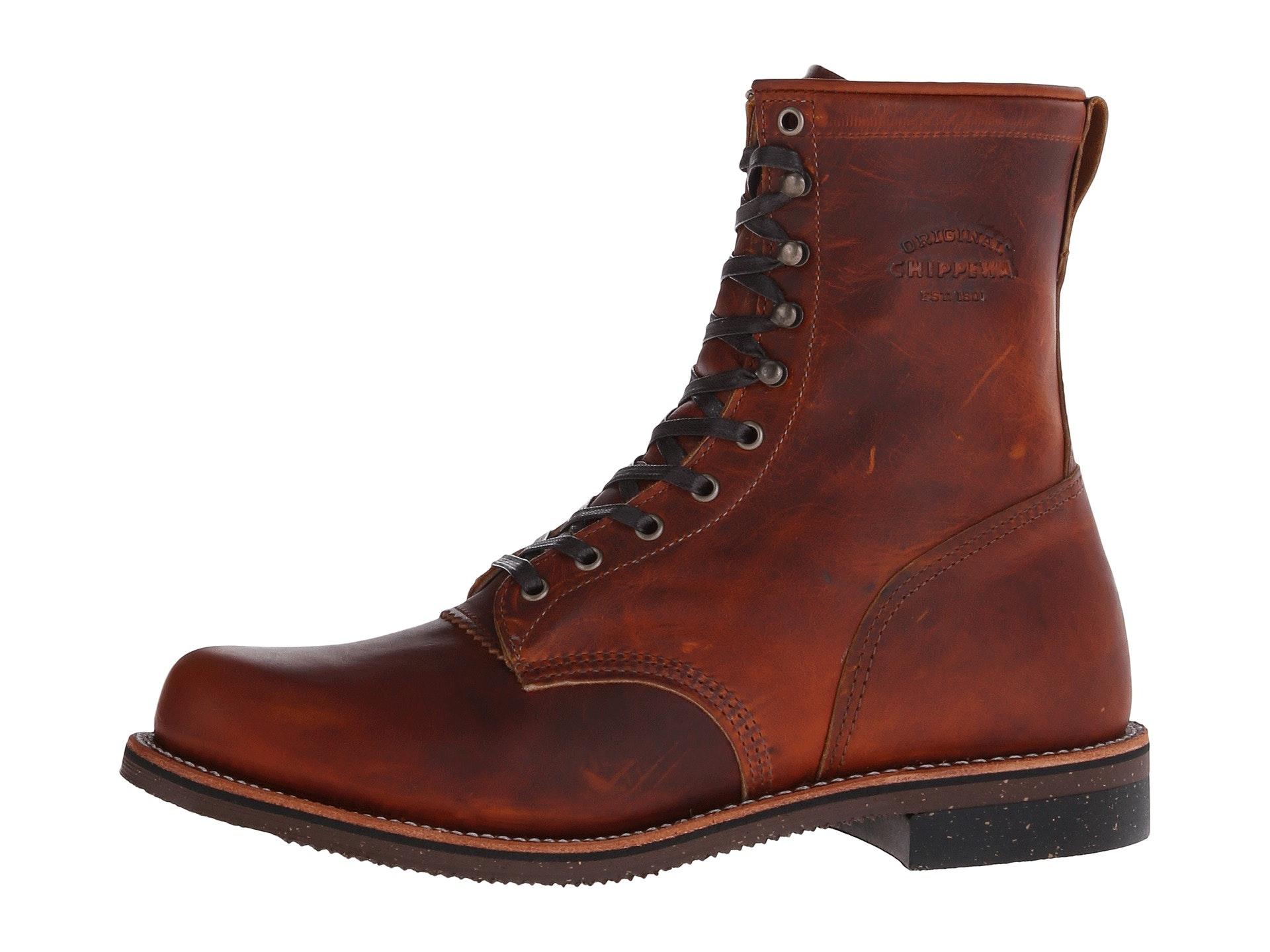"CHIPPEWA BOOTS #1901G22 8"" TAN RENEGADE SERVICE BOOT"