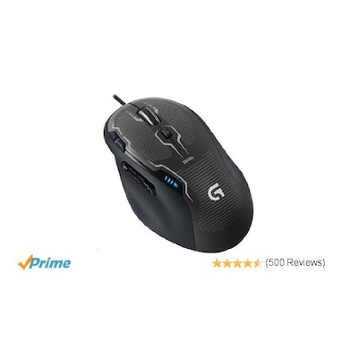 Logitech G500s Laser Gaming Mouse with Adjustable Weight Tuning: Com