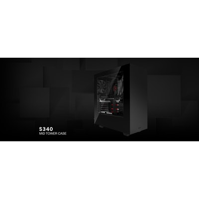 S340 Black PC Gaming Case - S340 Computer Gaming Case - NZXT