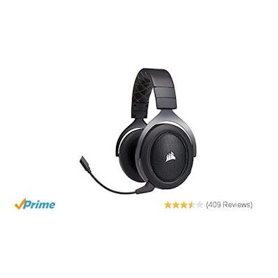 Amazon.com: CORSAIR HS70 Wireless Gaming Headset - 7.1 Surround Sound Headphones