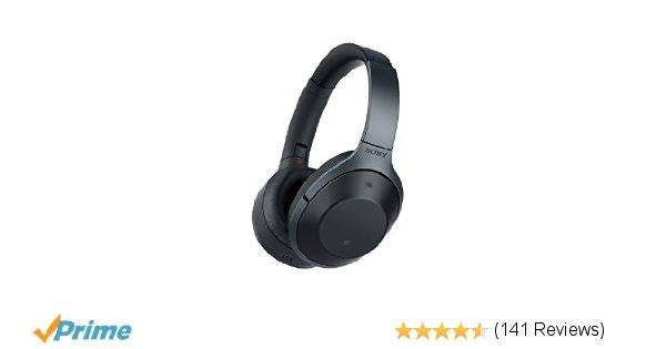 Amazon.com: Sony Premium Noise Cancelling, Bluetooth Headphone, Black (MDR1000X/