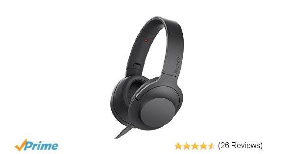 Amazon.com: Sony h.ear on Premium Hi-Res Stereo Headphones, Charcoal Black: Home