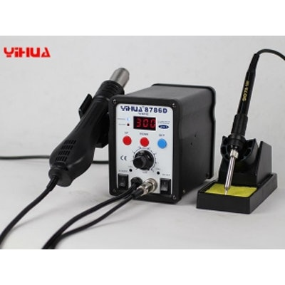 YH-8786D 2in1 Hot Air Rework Station with Soldering Iron