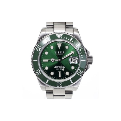 Diver - Tisell Watch - TISELL Automatic Diver Watch Green 40 mm