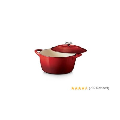 Tramontina 6.5 Qt Enameled Cast Iron Dutch Oven Red: Kitchen & Dinin