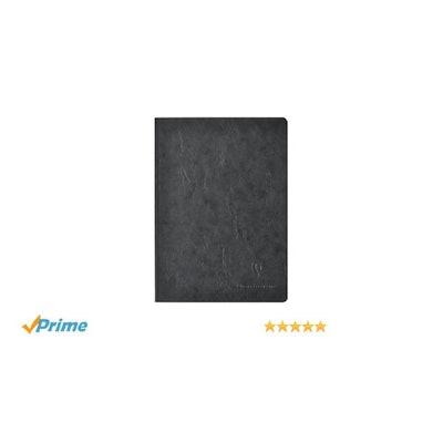 Amazon.com : Clairefontaine Basic Large Clothbound Notebook (6 x 8.25) BLACK 192