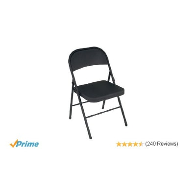 Amazon.com: Cosco All Steel 4-Pack Folding Chair, Black: Kitchen & Dining