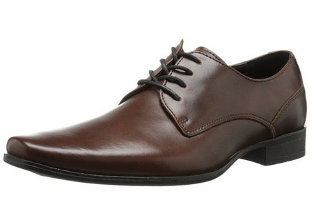 Calvin Klein Men's Brodie Burnished Leather Oxford Dress Shoes