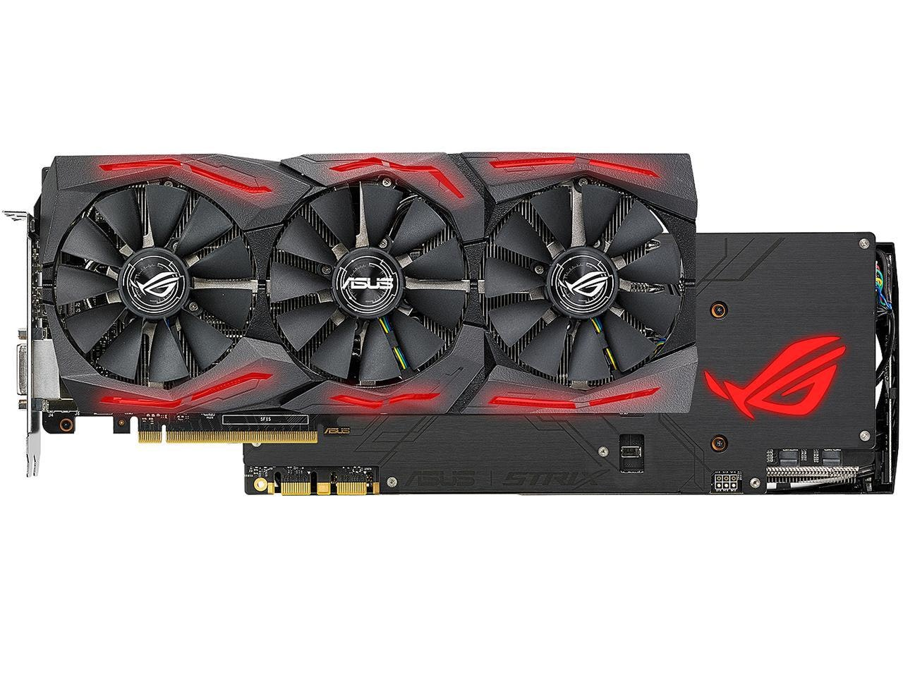 ASUS ROG GeForce GTX 1080 Ti DirectX 12 STRIX-GTX1080TI-O11G-GAMING 11GB 352-Bit