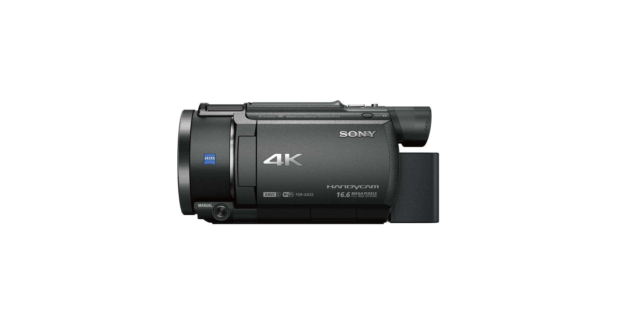 AX53 4K Handycam® with Exmor R® CMOS sensor | FDR-AX53 | Sony USFonticon_Zeiss_l