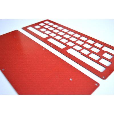 DIY LJD61UP Keyboard - Carbon Fiber Silver, 1Up Keyboards
