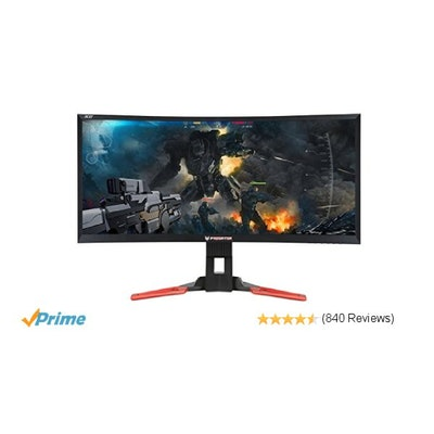 Amazon.com: Acer Predator Z35 35-inch Curved Full HD (2560 x 1080) NVIDIA G-Sync