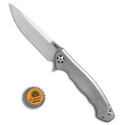 "Zero Tolerance Sinkevich 0452TI Flipper Knife Titanium (4.1"" Satin) ZT - Blade H"