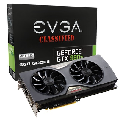 EVGA - Products - EVGA GeForce GTX 980 Ti CLASSIFIED GAMING ACX 2.0+ - 06G-P4