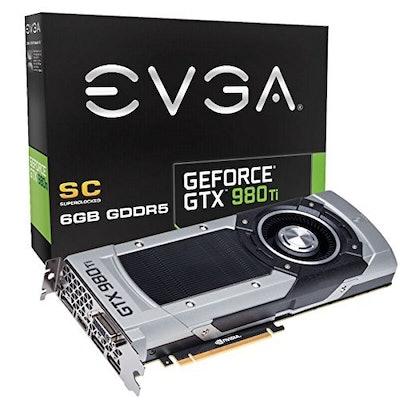 EVGA Nvidia Geforce GTX 980TI SuperClocked GDDR5 Graphics Card (6 GB, HDMI 2.0,
