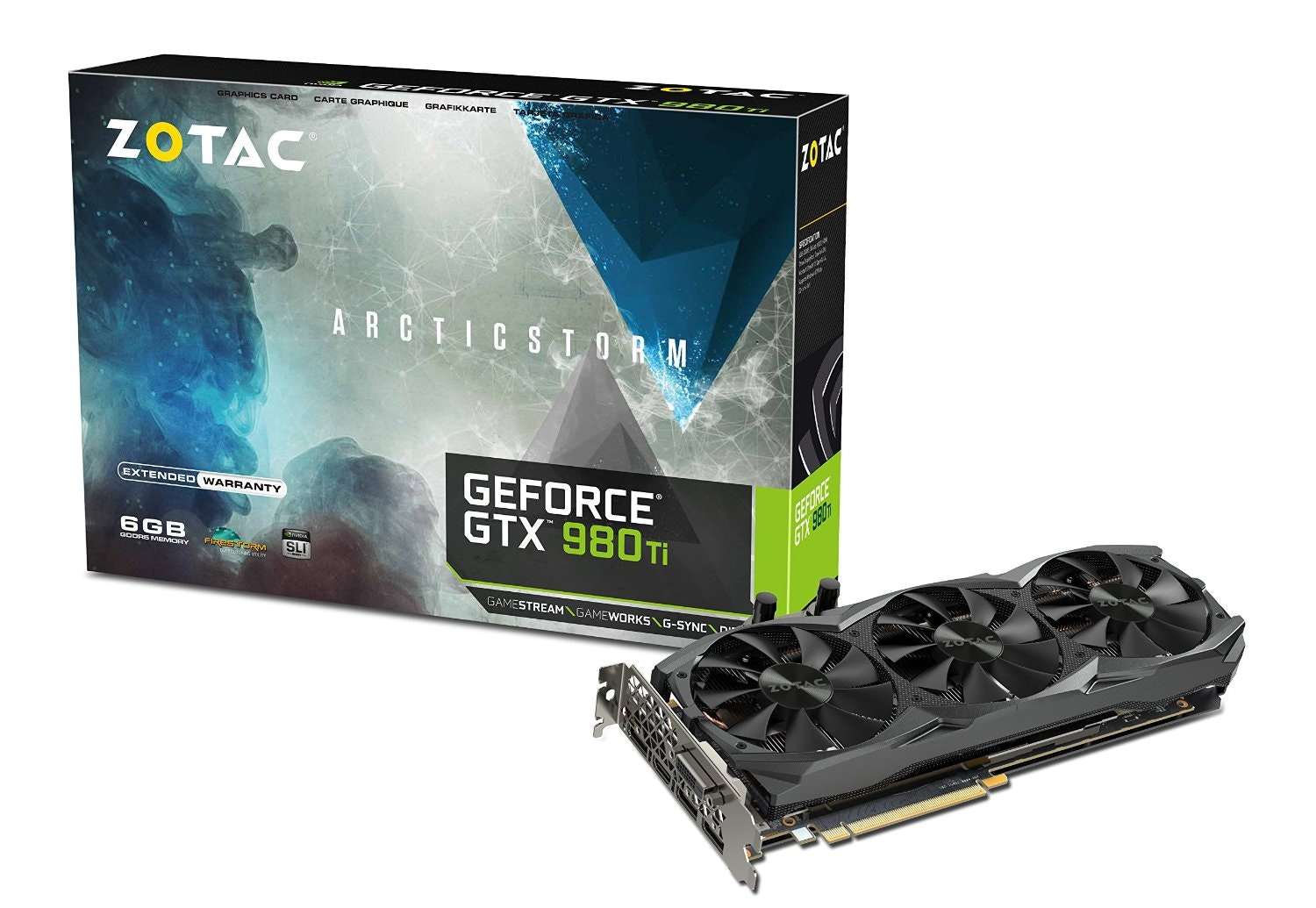 Amazon.com: ZOTAC GeForce GTX 980 Ti ArcticStorm 6GB 384-Bit GDDR5 PCI Express 3