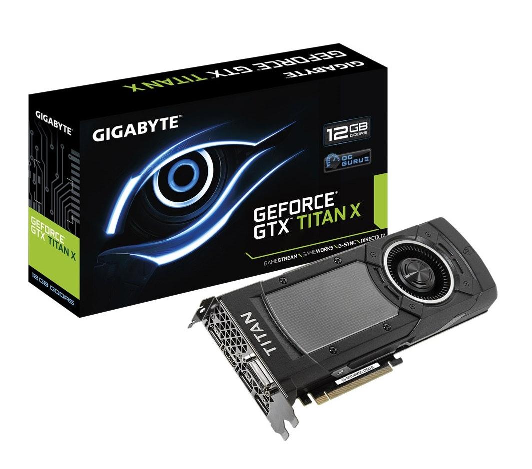 Gigabyte GeForce GTX TitanX 12GB GDDR5 DVI HDMI 3x miniDisplayPort - GV-NTITA