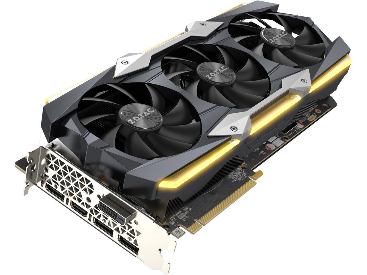 ZOTAC GeForce GTX 1080 Ti AMP Extreme 11GB GDDR5X 352-bit Gaming Graphics Card V