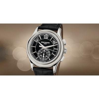 Patek Philippe | Complications Black-Gray Dial Platinum Chronograph 5905P-010